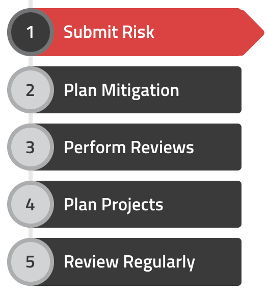 SimpleRisk Risk Management section