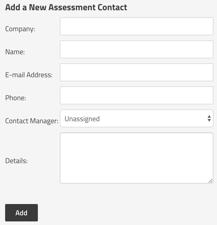 Adding an Assessment Contact in SimpleRisk